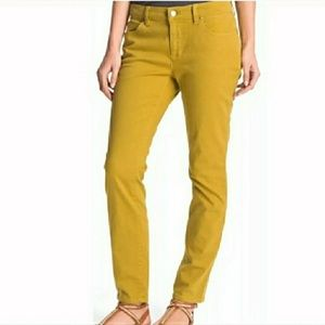 Eileen Fisher Mustard Yellow Skinny Jeans Size 8
